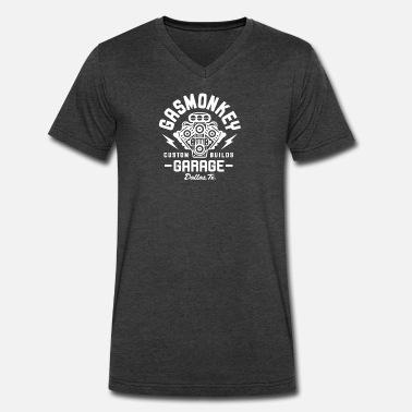 ff0ed1174b5b96 Monkey GAS MONKEY GARAGE - Men  39 s V-Neck T-Shirt