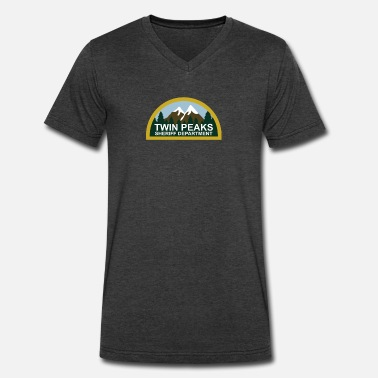 Twin Peaks TWIN PEAKS - Men's V-Neck T-Shirt by Canvas