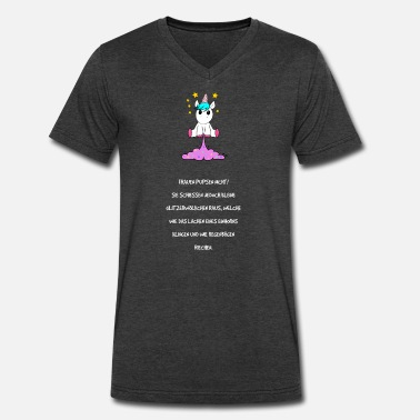Fucking Fart Women do not fart - unicorn - Men's V-Neck T-Shirt