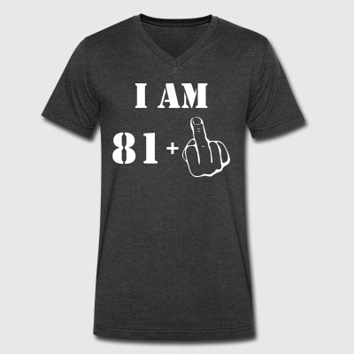 82nd Birthday T Shirt 81 + 1 Made in 1935 - Men's V-Neck T-Shirt by Canvas