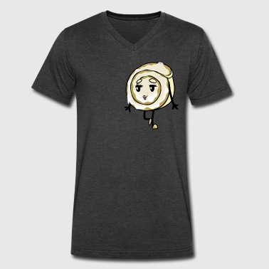 Knee Pop Cinnamon Roll - Men's V-Neck T-Shirt by Canvas