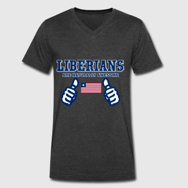 Liberian Design - Men's V-Neck T-Shirt by Canvas