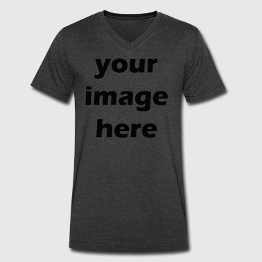 your image here - Men's V-Neck T-Shirt by Canvas