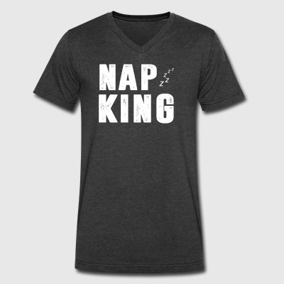 NAP KING T-SHIRT - Men's V-Neck T-Shirt by Canvas