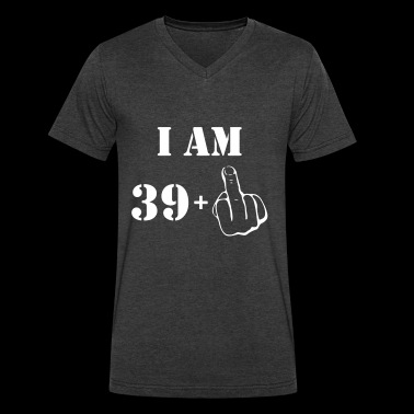 40th Birthday T Shirt 39 + 1 Made in 1977 - Men's V-Neck T-Shirt by Canvas