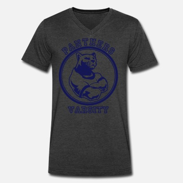Panther Baseball Custom Sports Panthers Mascot for Teams - Men's V-Neck T-Shirt by Canvas