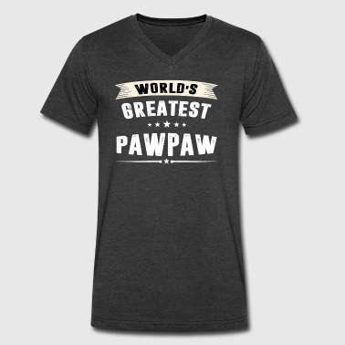 World s Greatest PAWPAW - Men's V-Neck T-Shirt by Canvas