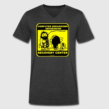Computer breakdown depression recovery center T Sh - Men's V-Neck T-Shirt by Canvas