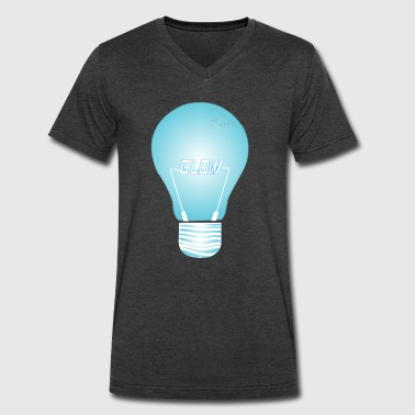 CREATIVE DESIGN || GLOW - Men's V-Neck T-Shirt by Canvas