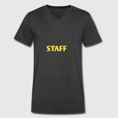 STAFF - Men's V-Neck T-Shirt by Canvas