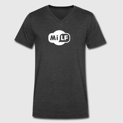 Milf - Men's V-Neck T-Shirt by Canvas
