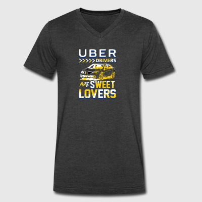 Uber Drivers are Sweet Lovers - Uber version2 - Men's V-Neck T-Shirt by Canvas