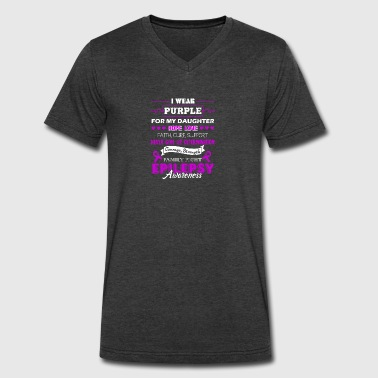 Epilepsy Awareness Tee - Men's V-Neck T-Shirt by Canvas