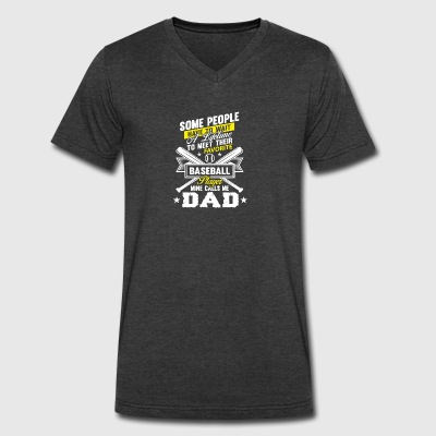Favorite Softball Player Mine Calls Me Dad T Shirt - Men's V-Neck T-Shirt by Canvas