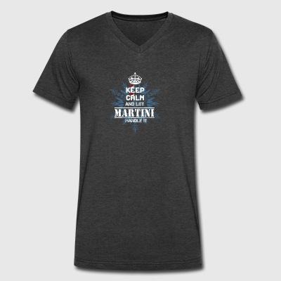 MARTINI T Shirt - Men's V-Neck T-Shirt by Canvas