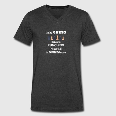 Chess Love Gift- cool shirt,geek hoodie,tank - Men's V-Neck T-Shirt by Canvas