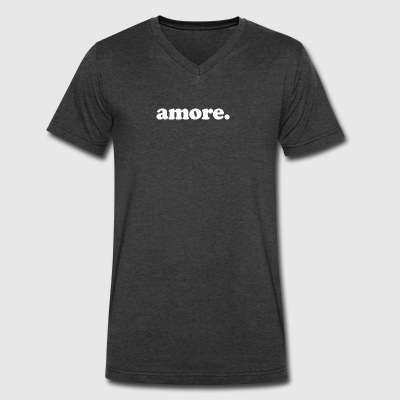 Amore - Fun Design (White Letters) - Men's V-Neck T-Shirt by Canvas