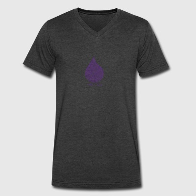 purple rain - Men's V-Neck T-Shirt by Canvas