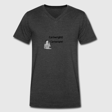 Cartwright! - Men's V-Neck T-Shirt by Canvas
