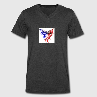 Freedom eagle - Men's V-Neck T-Shirt by Canvas