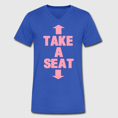 TAKE A SEAT - Men's V-Neck T-Shirt by Canvas