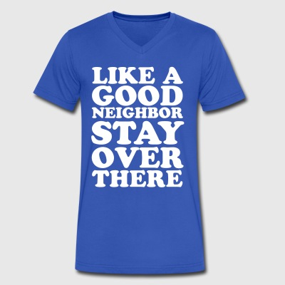Like a Good Neighbor - Men's V-Neck T-Shirt by Canvas