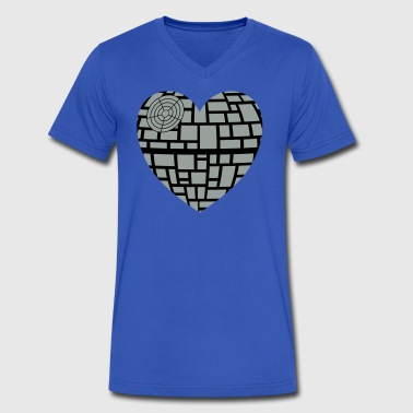 Death star heart - Men's V-Neck T-Shirt by Canvas