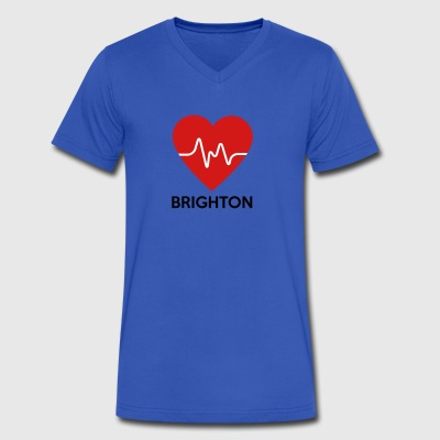 Heart Brighton - Men's V-Neck T-Shirt by Canvas