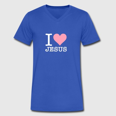 I Love Jesus - Men's V-Neck T-Shirt by Canvas