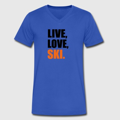ski - Men's V-Neck T-Shirt by Canvas