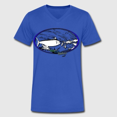 Dining With Marlin - Men's V-Neck T-Shirt by Canvas