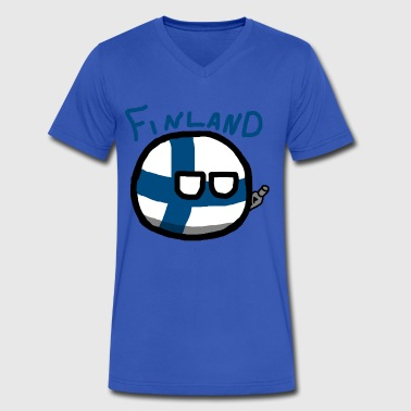 Finlandball - Men's V-Neck T-Shirt by Canvas