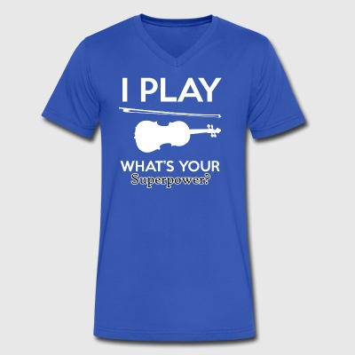 Violin designs - Men's V-Neck T-Shirt by Canvas