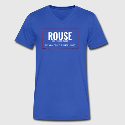 ROUSE FOR PRESIDENT Apparel - Men's V-Neck T-Shirt by Canvas