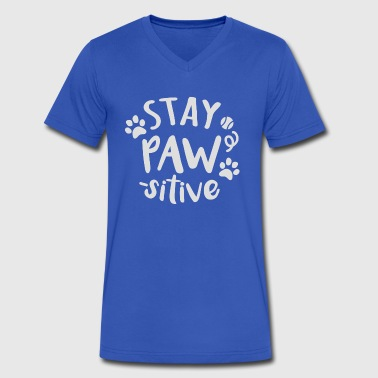 Stay PAW sitive - Men's V-Neck T-Shirt by Canvas