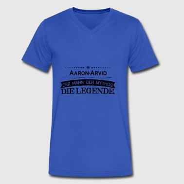 Mythos Legende Vorname Aaron Arvid - Men's V-Neck T-Shirt by Canvas