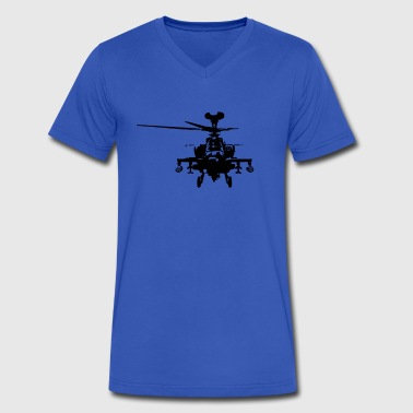 Military Attach Helicopter Gunship - Men's V-Neck T-Shirt by Canvas