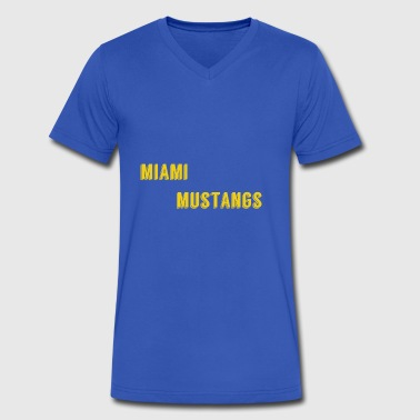 Miami Mustangs - Men's V-Neck T-Shirt by Canvas