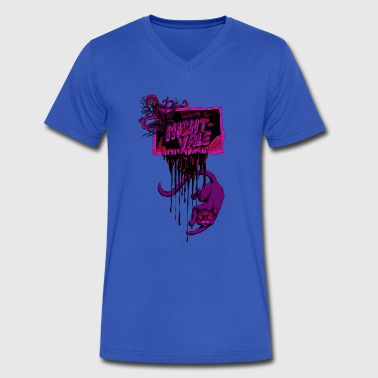 For the Welcome to Night Vale - Men's V-Neck T-Shirt by Canvas