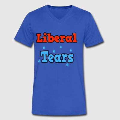 Liberal Tears - Men's V-Neck T-Shirt by Canvas