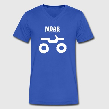 Moab Utah Jeep - Men's V-Neck T-Shirt by Canvas