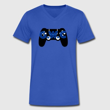 GamingWithCade Profile Picture - Men's V-Neck T-Shirt by Canvas