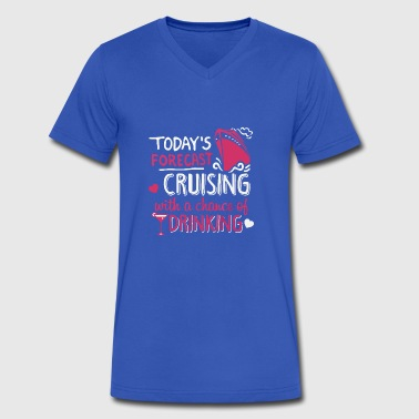 Today s Forecast Cruising - Men's V-Neck T-Shirt by Canvas
