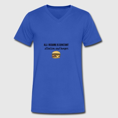 Constant attention and burgers - Men's V-Neck T-Shirt by Canvas