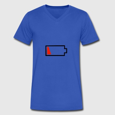 Battery Dying - Men's V-Neck T-Shirt by Canvas