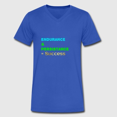 Endurance persistance success - Men's V-Neck T-Shirt by Canvas