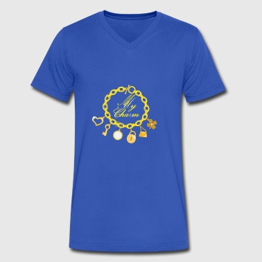 Chain Bracelet Vector - Men's V-Neck T-Shirt by Canvas