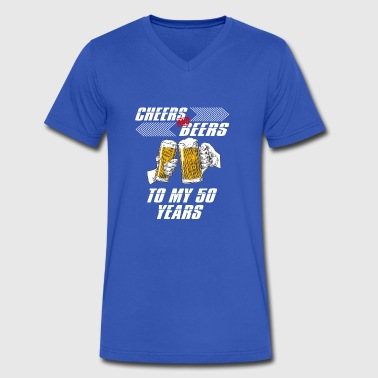 cheers and beers 50 years - Men's V-Neck T-Shirt by Canvas