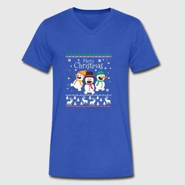 Merry Little Christmas - Men's V-Neck T-Shirt by Canvas