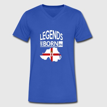 Northern Ireland Pride/Proud Gift-Legends are Born - Men's V-Neck T-Shirt by Canvas